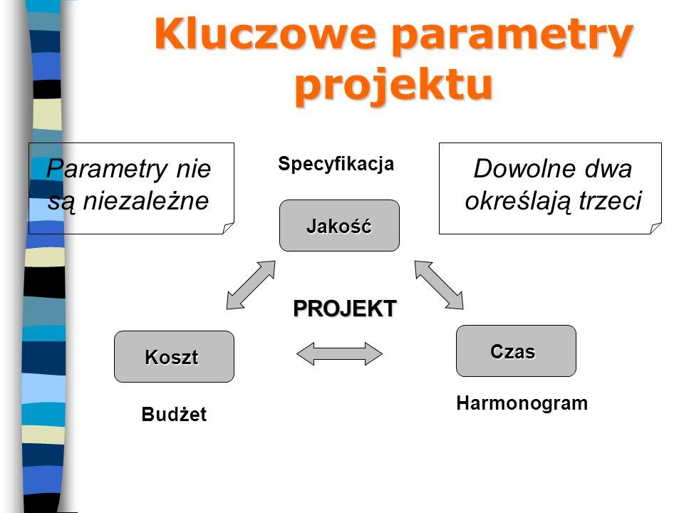 Kluczowe parametry projektu