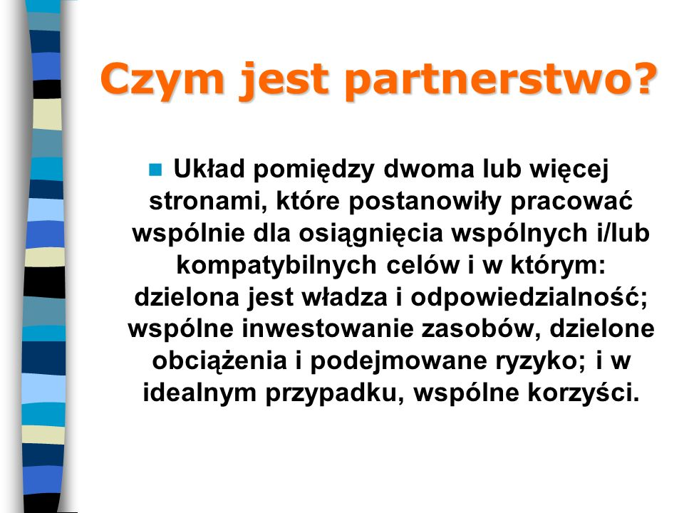 Czym jest partnerstwo