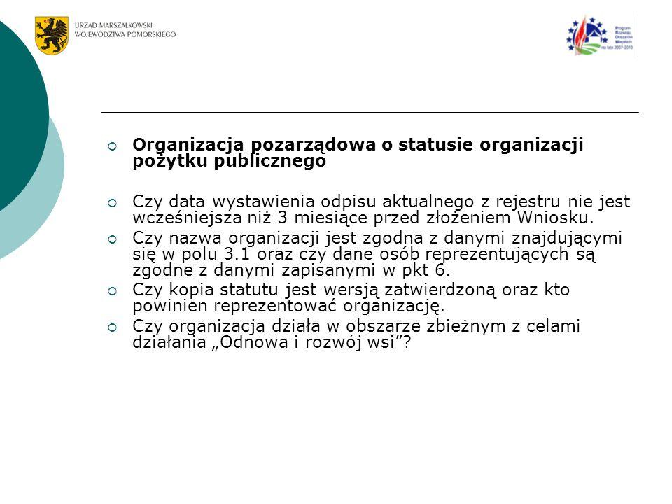 Organizacja pozarządowa o statusie organizacji pożytku publicznego