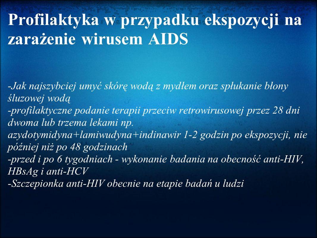 Profilaktyka w przypadku ekspozycji na zarażenie wirusem AIDS