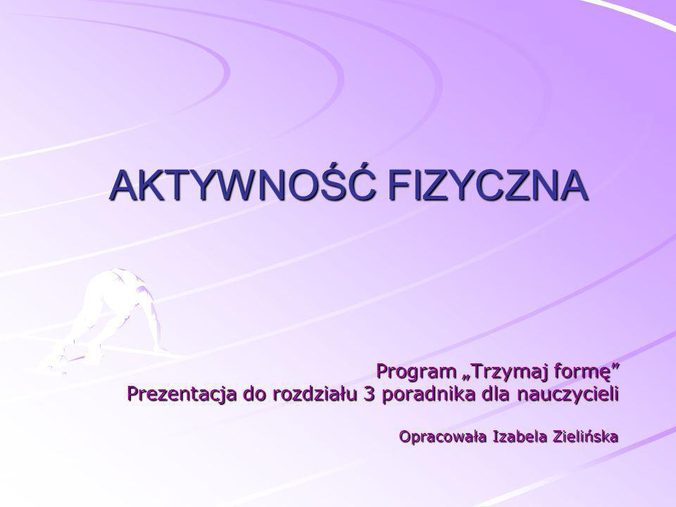 """AKTYWNOŚĆ FIZYCZNA Program """"Trzymaj formę"""