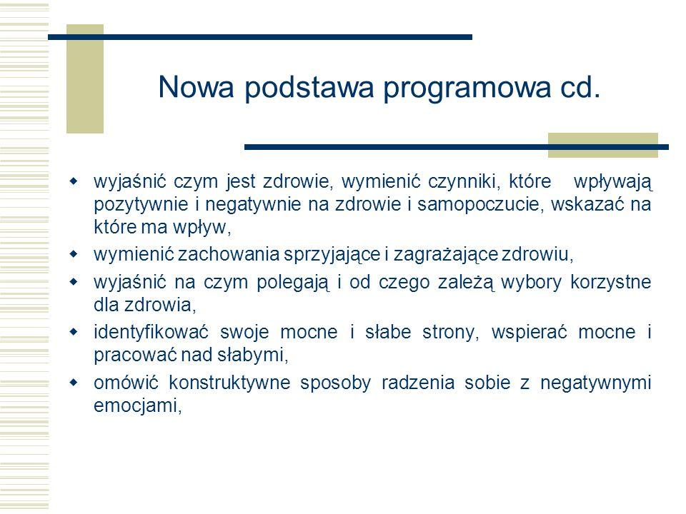 Nowa podstawa programowa cd.