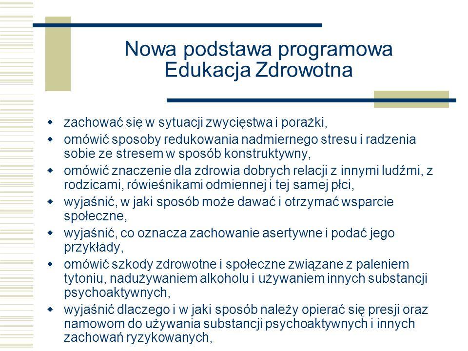 Nowa podstawa programowa Edukacja Zdrowotna
