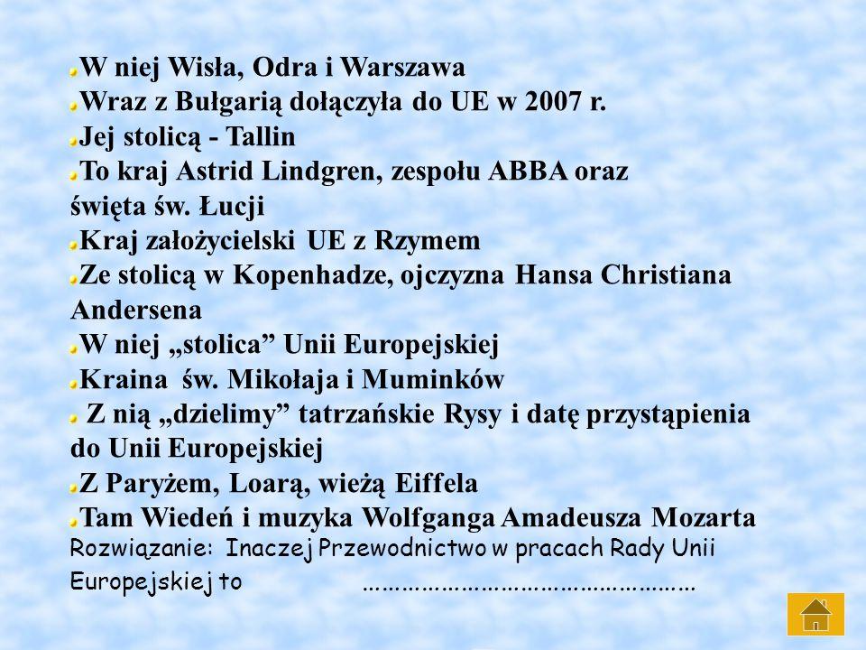W niej Wisła, Odra i Warszawa