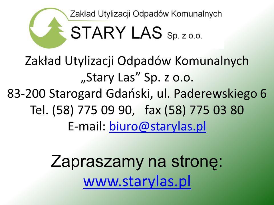 Zapraszamy na stronę: www.starylas.pl
