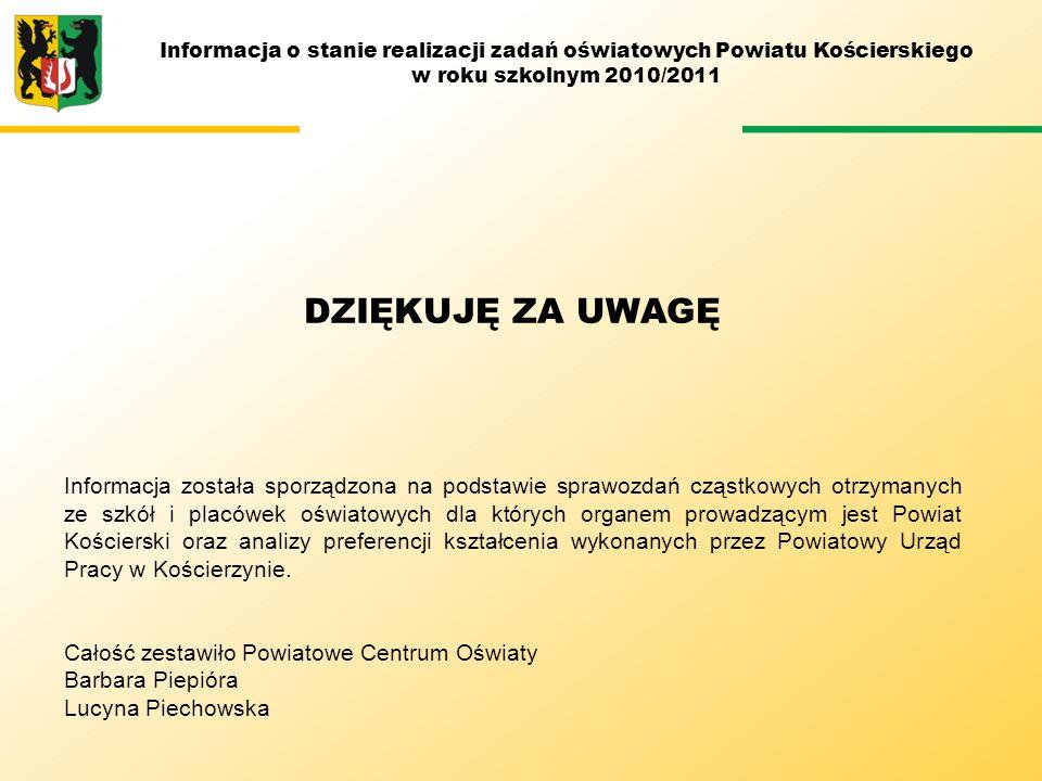 Informacja o stanie realizacji zadań oświatowych Powiatu Kościerskiego
