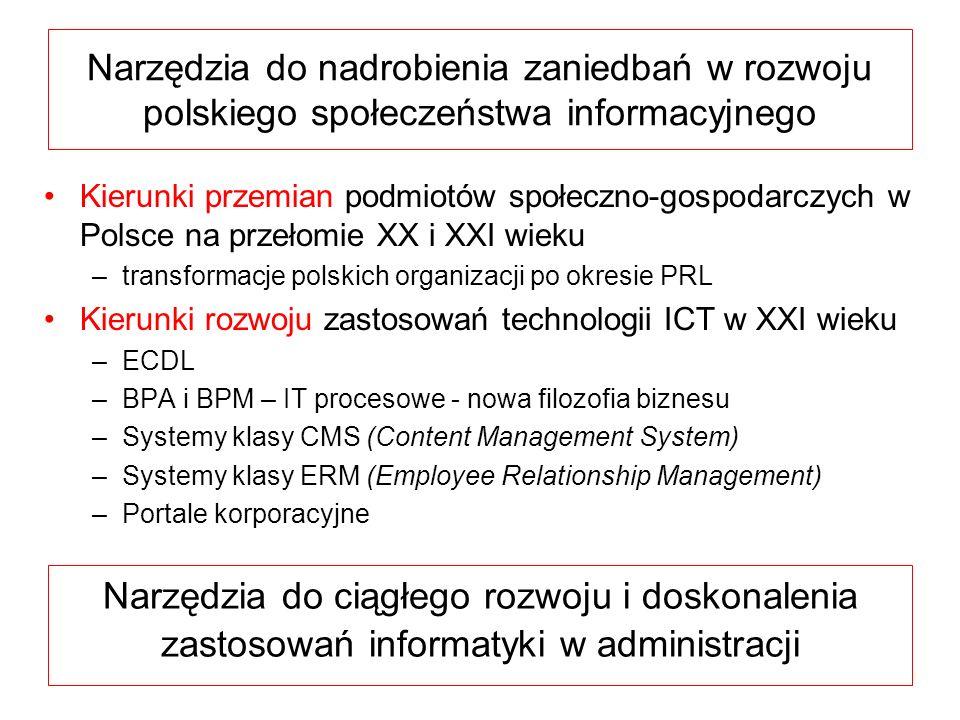 Narzędzia do nadrobienia zaniedbań w rozwoju polskiego społeczeństwa informacyjnego