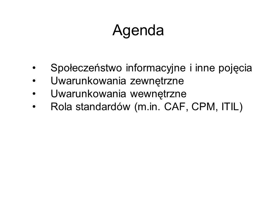 Agenda Społeczeństwo informacyjne i inne pojęcia