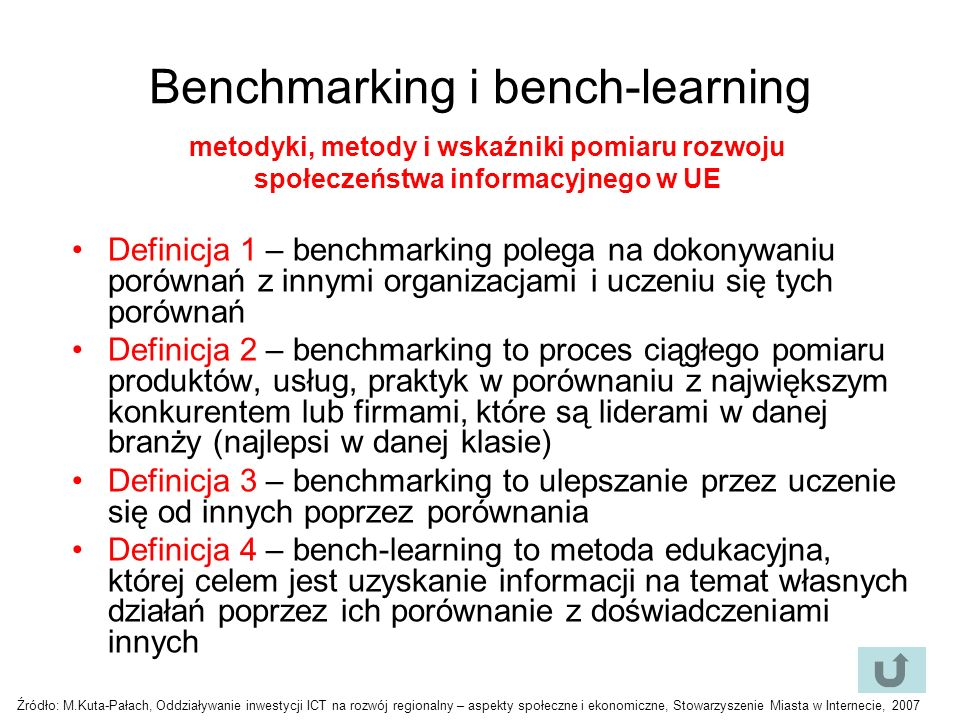 Benchmarking i bench-learning