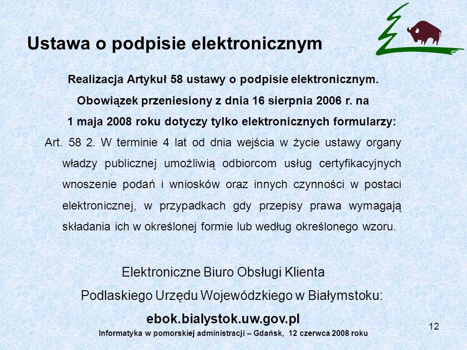 Ustawa o podpisie elektronicznym