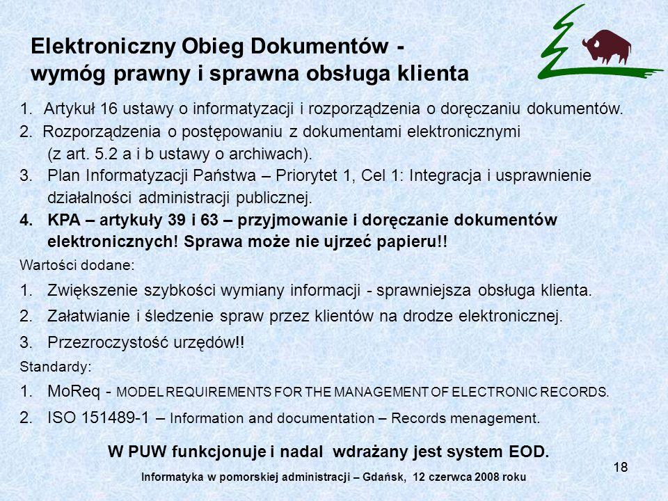 Elektroniczny Obieg Dokumentów - wymóg prawny i sprawna obsługa klienta