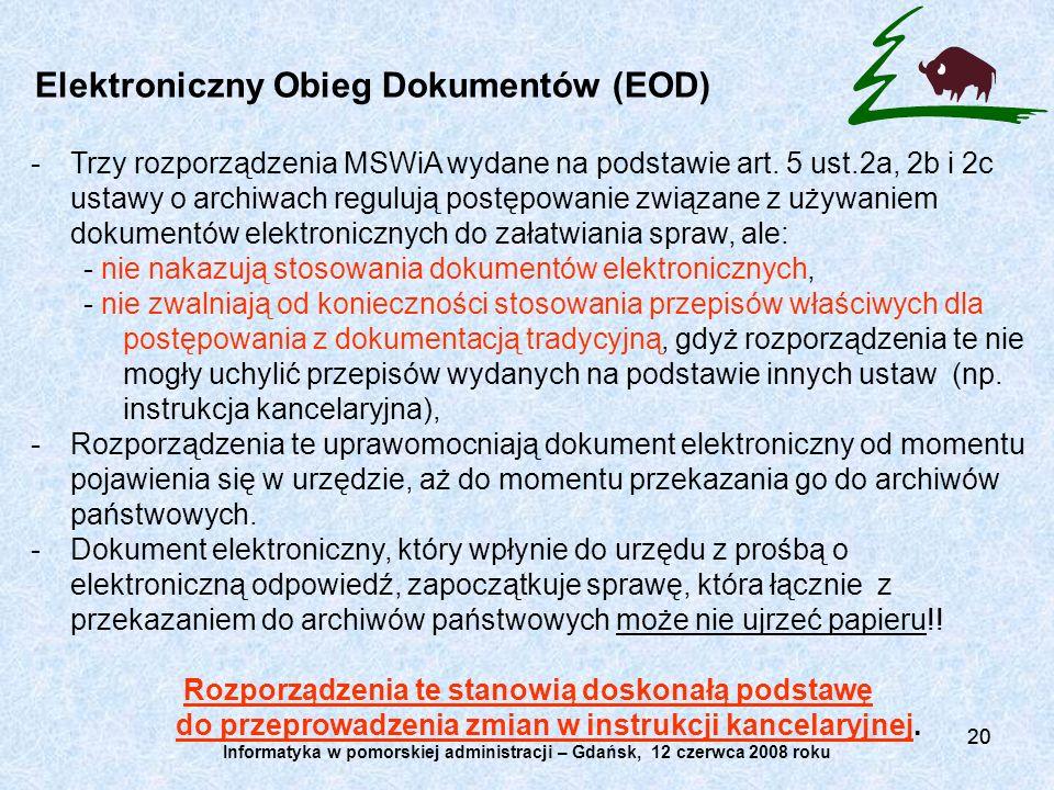 Elektroniczny Obieg Dokumentów (EOD)