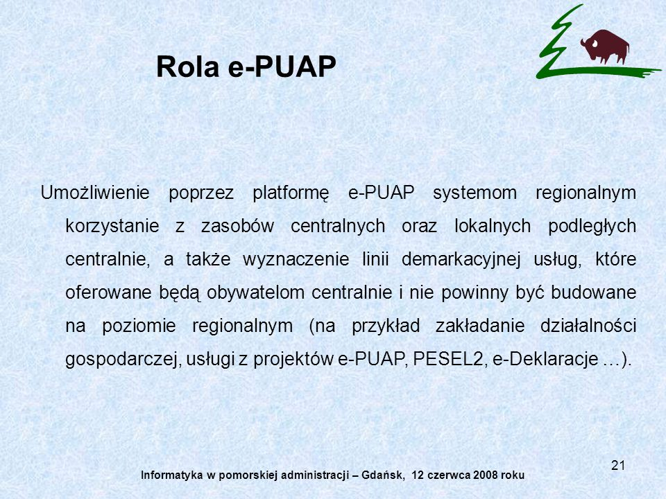 Informatyka w pomorskiej administracji – Gdańsk, 12 czerwca 2008 roku