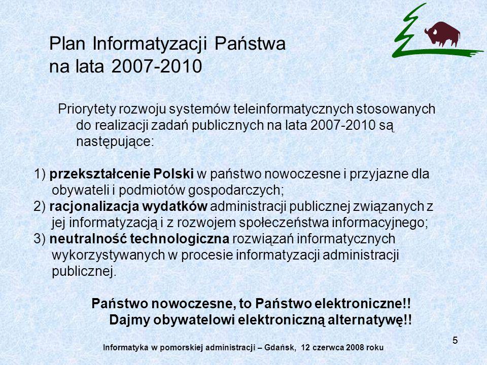 Plan Informatyzacji Państwa na lata 2007-2010