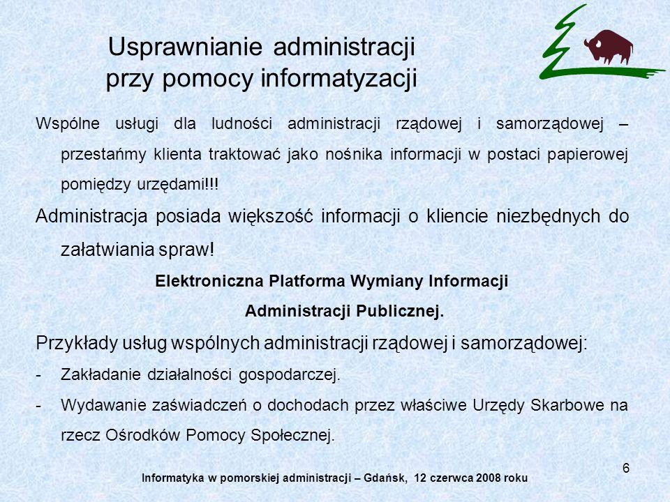 Usprawnianie administracji przy pomocy informatyzacji