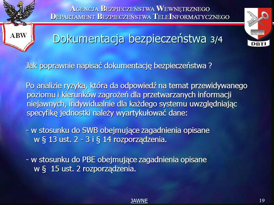 Dokumentacja bezpieczeństwa 3/4
