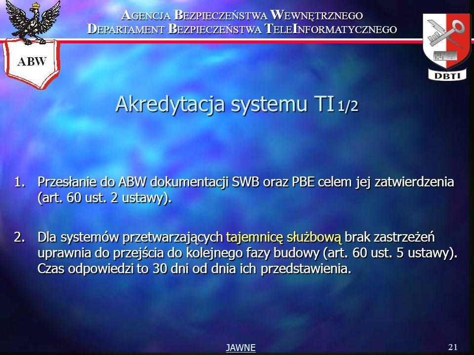 Akredytacja systemu TI 1/2
