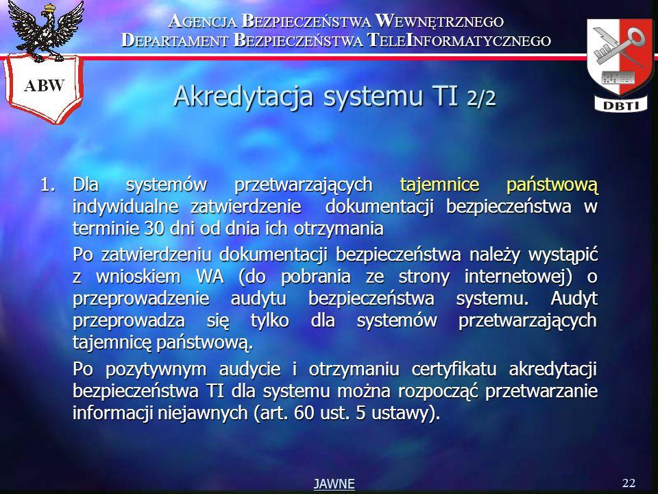 Akredytacja systemu TI 2/2