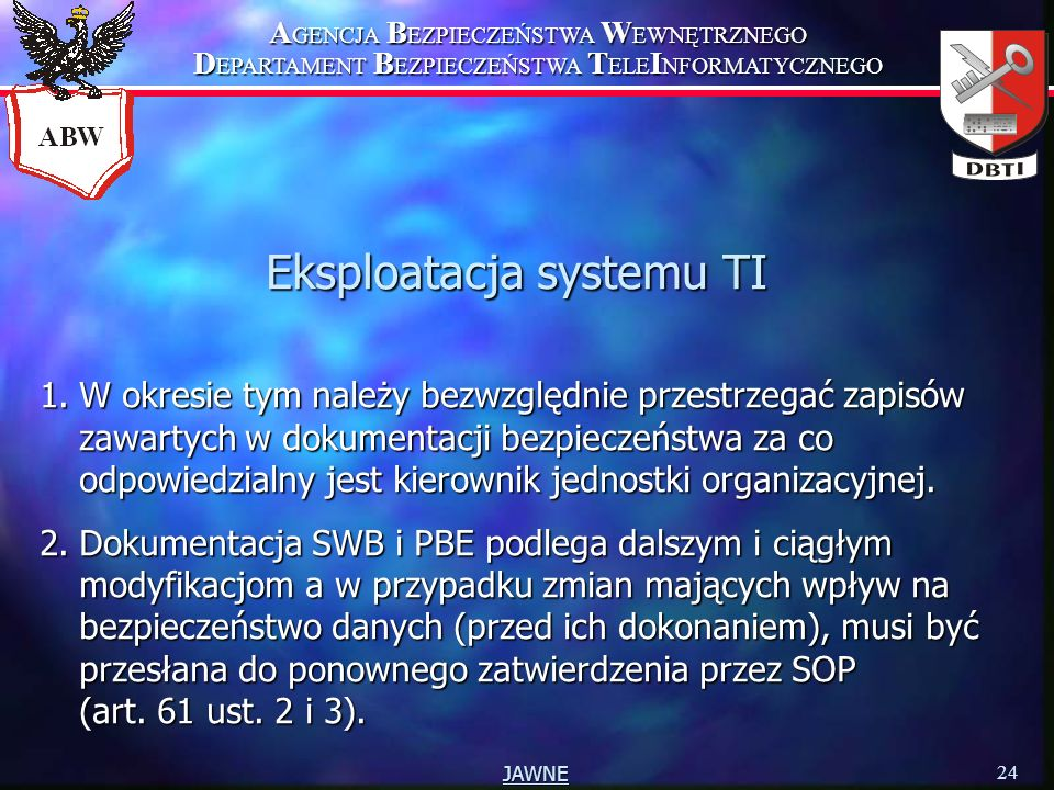 Eksploatacja systemu TI