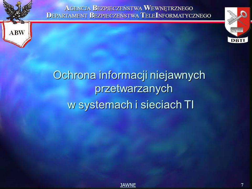 Ochrona informacji niejawnych przetwarzanych w systemach i sieciach TI