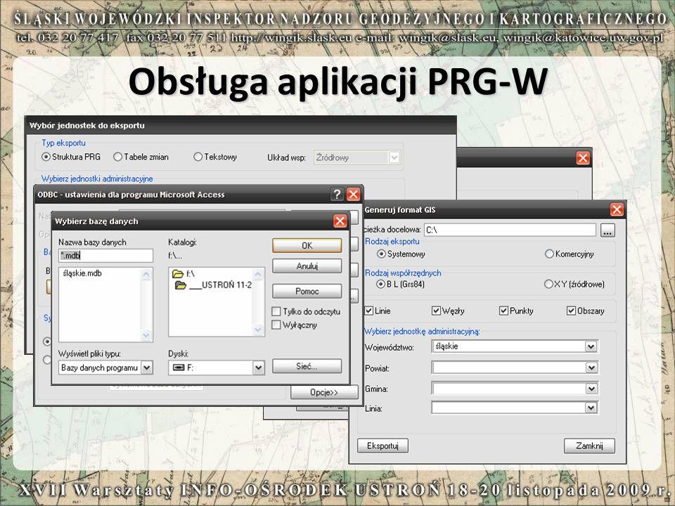 Obsługa aplikacji PRG-W