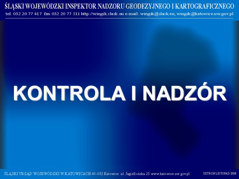 KONTROLA I NADZÓR