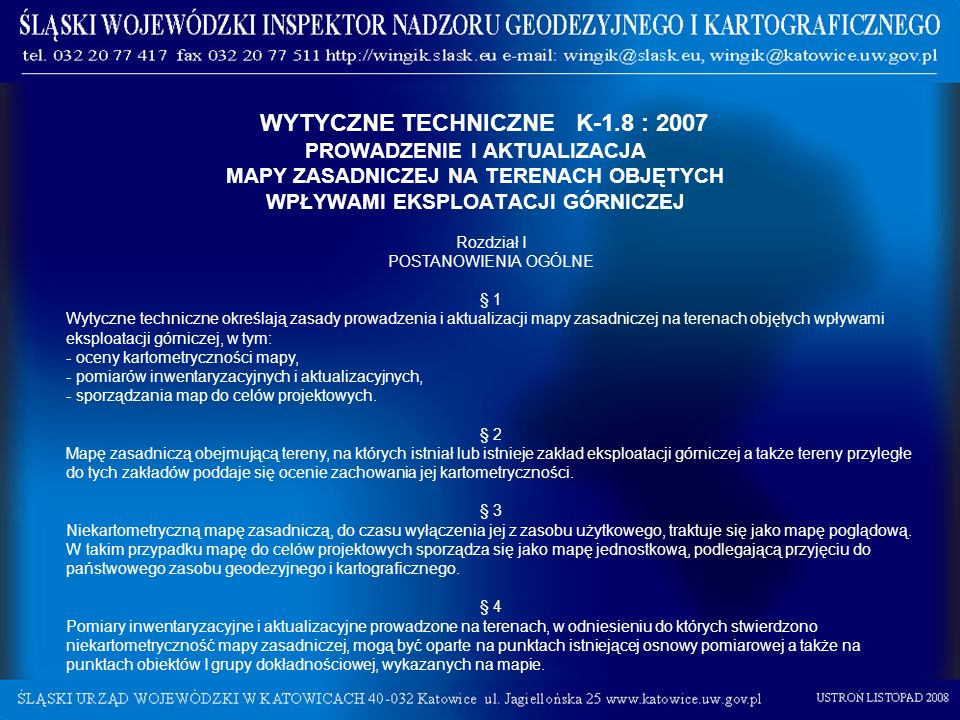 WYTYCZNE TECHNICZNE K-1