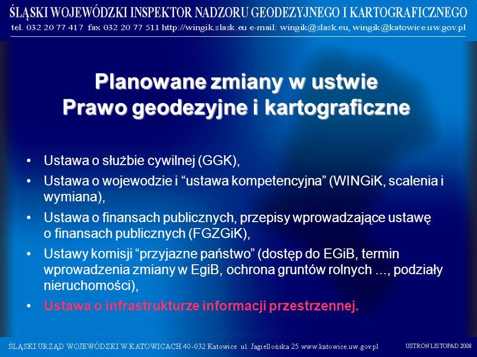 Planowane zmiany w ustwie Prawo geodezyjne i kartograficzne