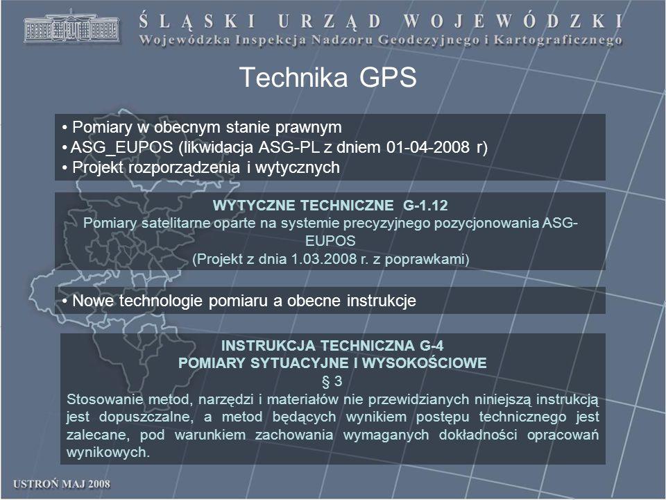 Technika GPS Pomiary w obecnym stanie prawnym