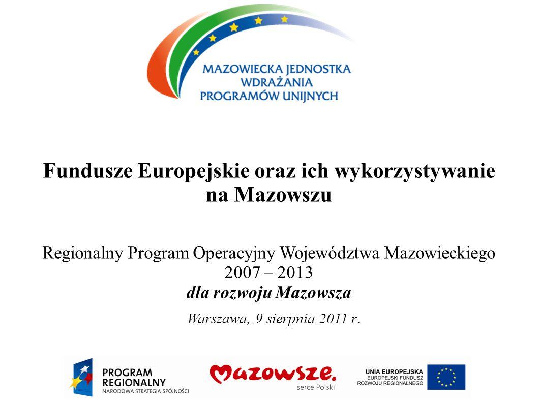 Fundusze Europejskie oraz ich wykorzystywanie na Mazowszu
