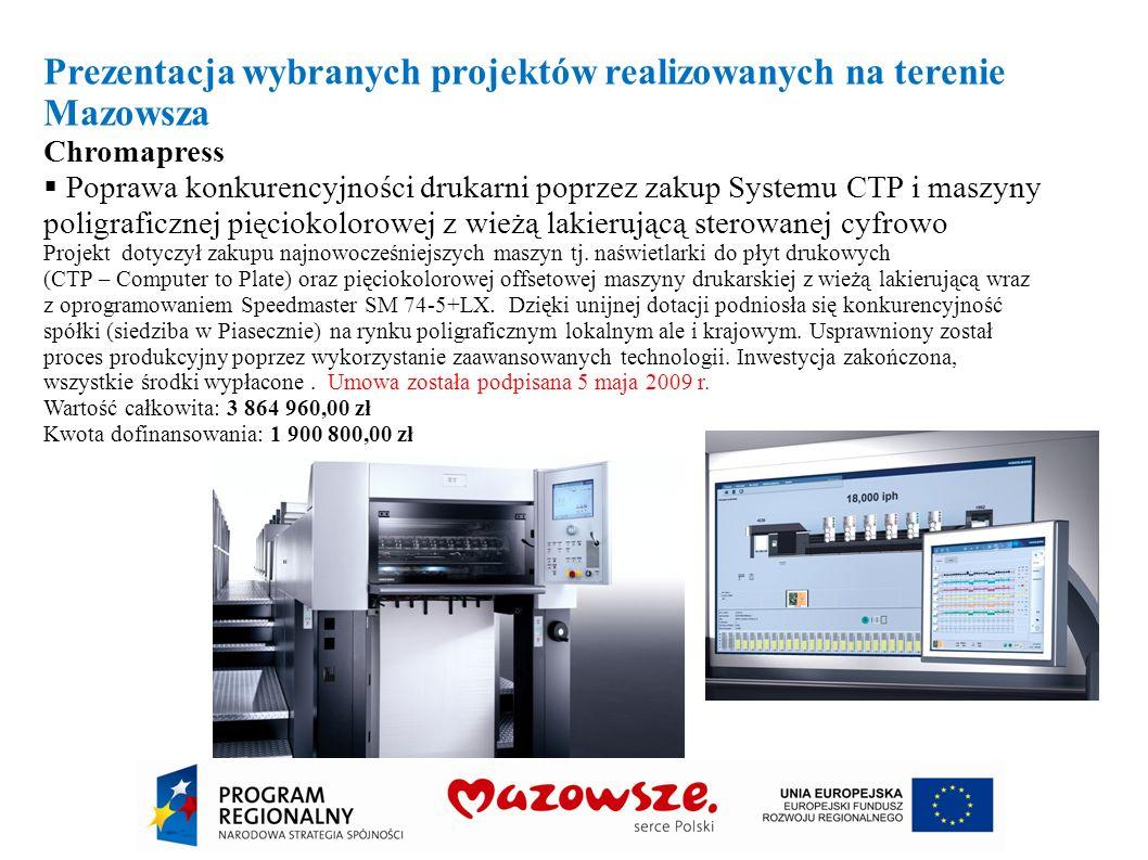Prezentacja wybranych projektów realizowanych na terenie Mazowsza