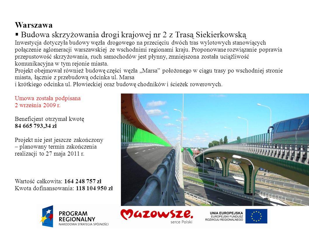Budowa skrzyżowania drogi krajowej nr 2 z Trasą Siekierkowską