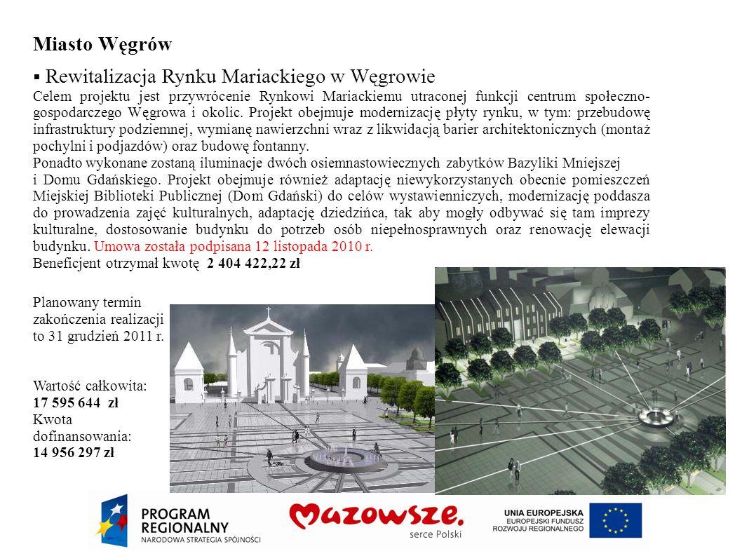 Miasto Węgrów Rewitalizacja Rynku Mariackiego w Węgrowie