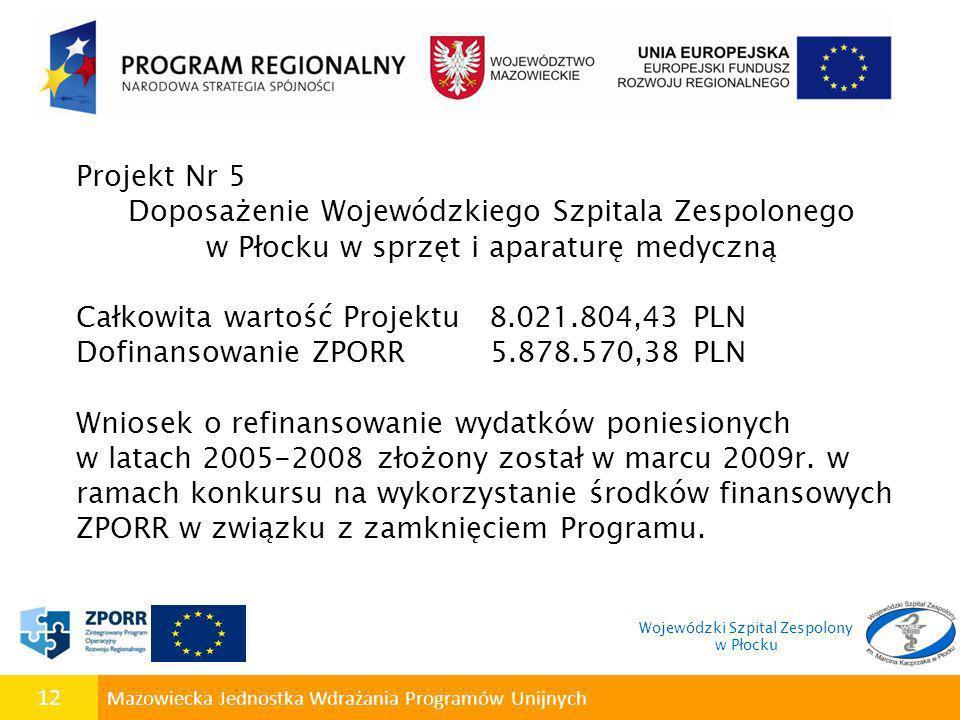 Doposażenie Wojewódzkiego Szpitala Zespolonego