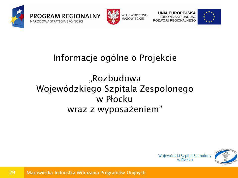 """Informacje ogólne o Projekcie """"Rozbudowa"""