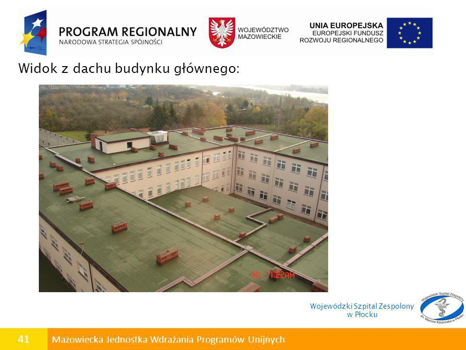 Widok z dachu budynku głównego: