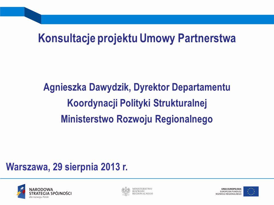 Konsultacje projektu Umowy Partnerstwa