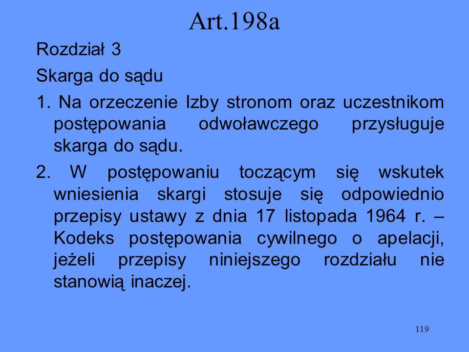 Art.198a Rozdział 3 Skarga do sądu