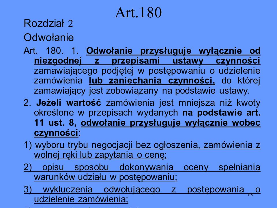 Art.180 Rozdział 2 Odwołanie
