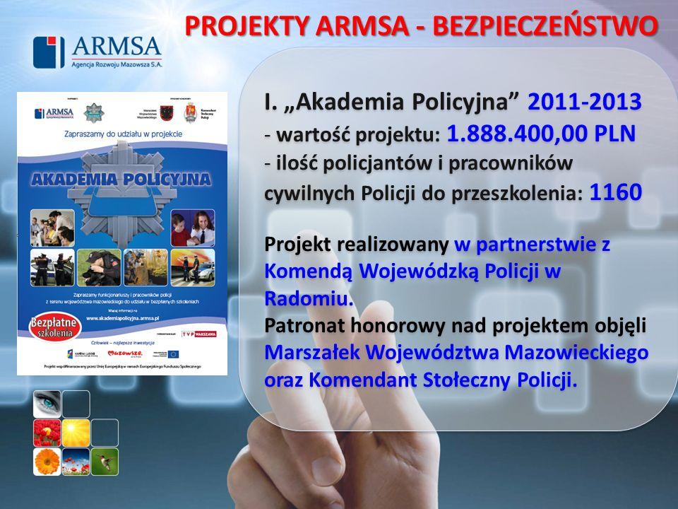 PROJEKTY ARMSA - BEZPIECZEŃSTWO