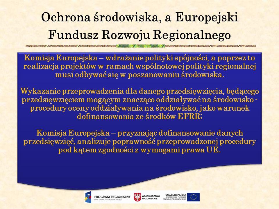 Ochrona środowiska, a Europejski Fundusz Rozwoju Regionalnego