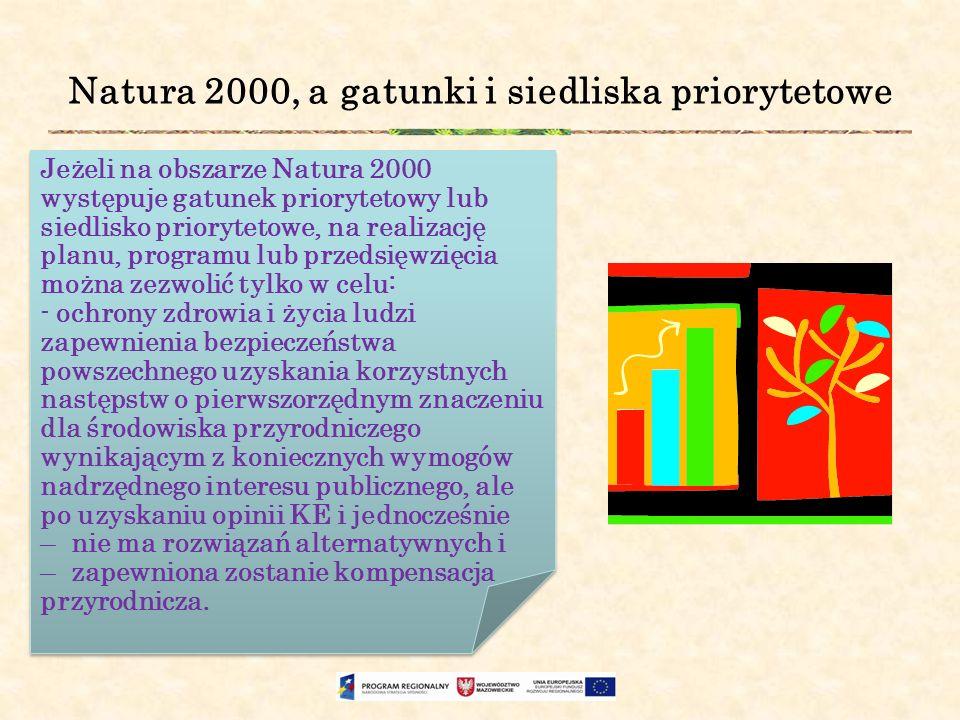 Natura 2000, a gatunki i siedliska priorytetowe