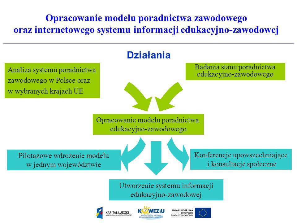 Opracowanie modelu poradnictwa zawodowego oraz internetowego systemu informacji edukacyjno-zawodowej