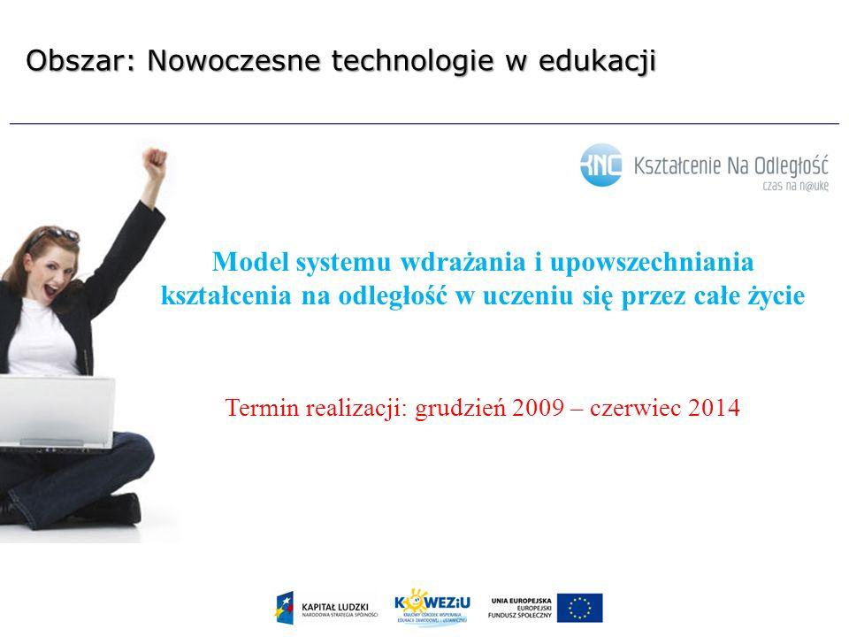 Obszar: Nowoczesne technologie w edukacji