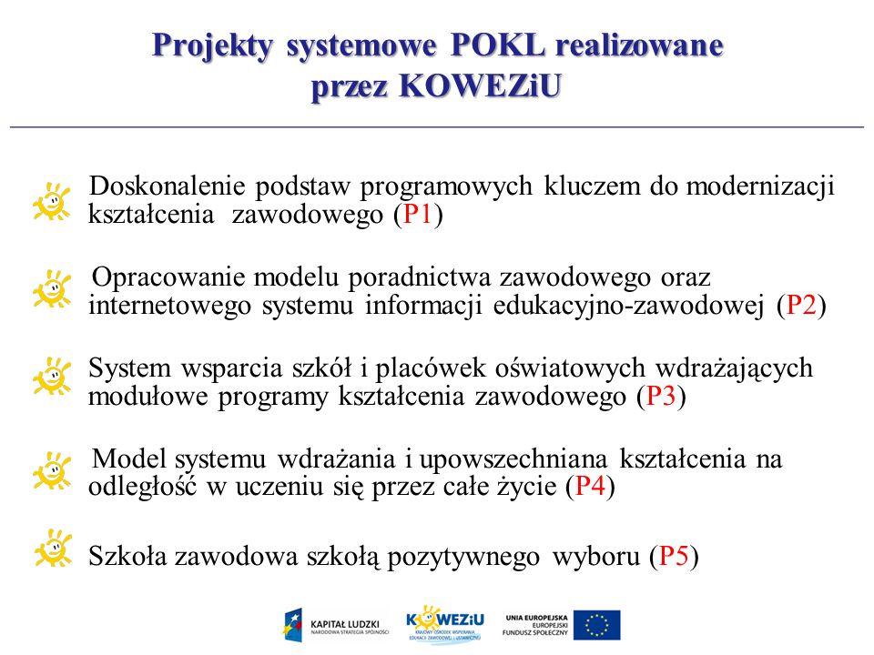 Projekty systemowe POKL realizowane