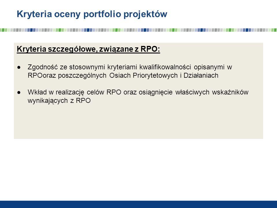 Kryteria oceny portfolio projektów