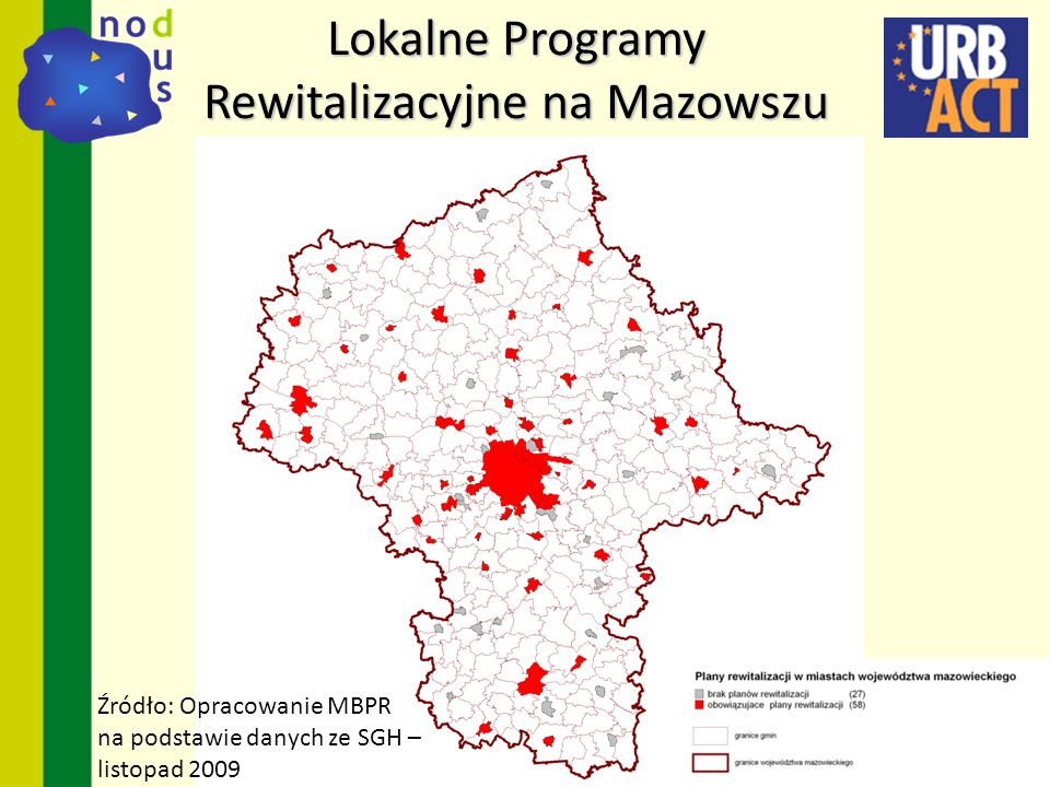 Lokalne Programy Rewitalizacyjne na Mazowszu