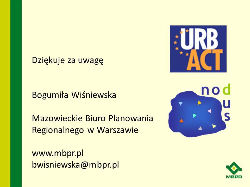Dziękuje za uwagę Bogumiła Wiśniewska. Mazowieckie Biuro Planowania Regionalnego w Warszawie. www.mbpr.pl.