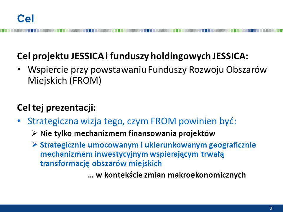 Cel Cel projektu JESSICA i funduszy holdingowych JESSICA: