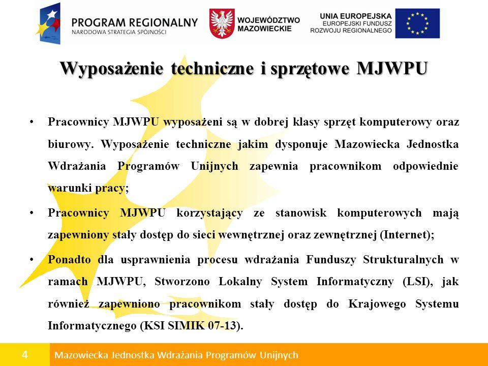 Wyposażenie techniczne i sprzętowe MJWPU